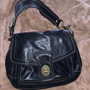Black leather Coach bag
